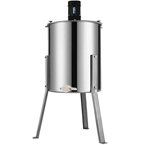 BestEquip Electric Honey Extractor Separator 4 Frame Bee Extractor Stainless Steel Honeycomb Spinner Crank. Beekeeping Extraction Apiary Centrifuge Equipment