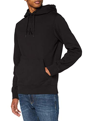 Calvin Klein Acid Wash Hoodie Suéter, CK Black, S para Hombre