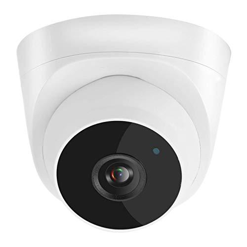 FOLOSAFENAR Cámara de Seguridad para el hogar de plástico ABS HD 2592 * 1944P Cámara de vigilancia Tipo Domo con visualización Nocturna(European regulations)