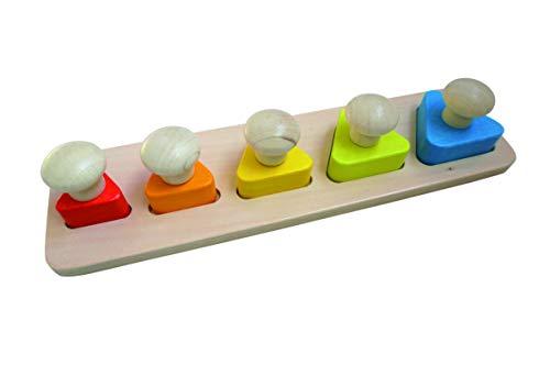 Andreu Toys Triángulo Puzzle con pomos, Multicolor, 30 x 9 x 4.5 cm (Toys Service S.L 16704)