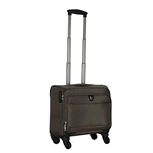 Buy WUZHONGDIAN Luggage, Unisex Business Casual Boarding, Red, 16 Inches (Color : Brown)