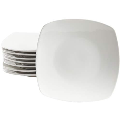Gibson Home Zen Buffet Dinnerware Set, 8-Piece Dinner Plate Set, White