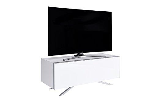 Jahnke Meuble TV SL 5130 AF, Bois, Blanc, 45 x 130 x 49,3 cm
