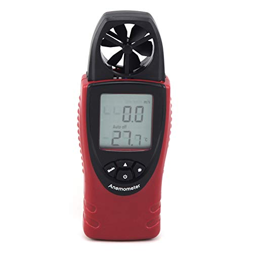 YBYBYB Anemometer-Handanemometer-Multifunktionshochpräzisions-Messgerät Passend Für Das Surfen des Bergsteigen-Drachens Im Freien,Red,145 * 52 * 25Cm