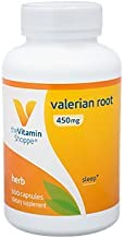 Valerian Root 450mg (Valeriana Officinalis) Supports Relaxation Calmness, Non Habit Forming Herbal Supplement (300 Capsules) by The Vitamin Shoppe