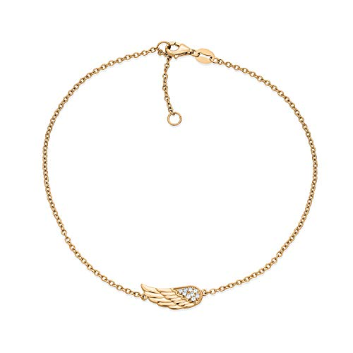 Bling Jewelry Delicate CZ Angel Wing Feather Anklet for Teen Ankle Bracelet...