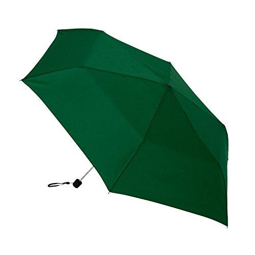 Mini-storm-paraplu/met beschermhoes en rubberen greep/kleur: donkergroen