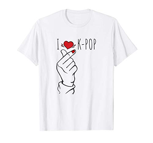 Lindo corazón de dedo coreano - K-Pop Finger - Pop coreano Camiseta