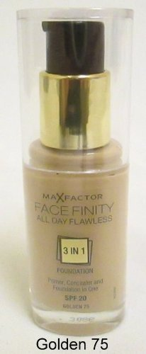 2 x Max Factor Face Finity Flawless 3 in 1 Foundation 30ml - 33 Crystal Beige