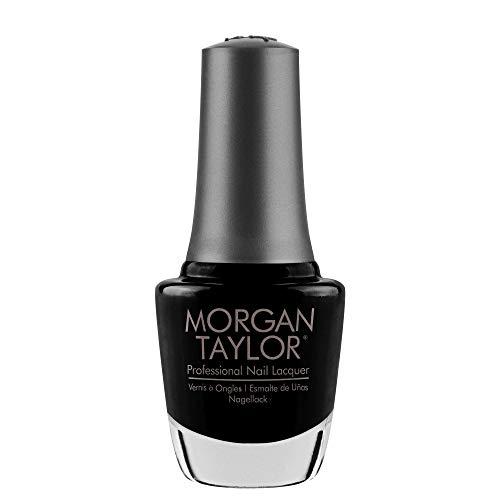 Morgan Taylor Black Shadow Nail Lacquer, Black Crème