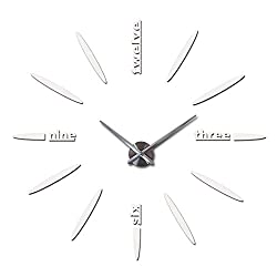 3 Sizes Wall Clock reloj de pared Watch Brief Clocks Living Room Large Stickers Decorative Silent Wall Clock Modern,White,47inch
