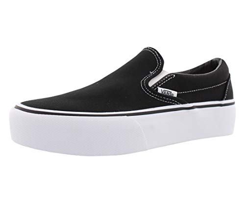 Vans Damen WM Asher Platform Slip On Sneaker, Schwarz ((Canvas) Black 3sy), 37 EU