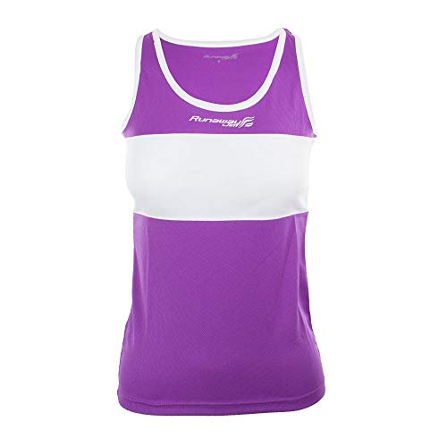 Softee Equipment T-Shirt débardeur Running filipides Runaway Jim Couleur Violet/Blanc Taille XL