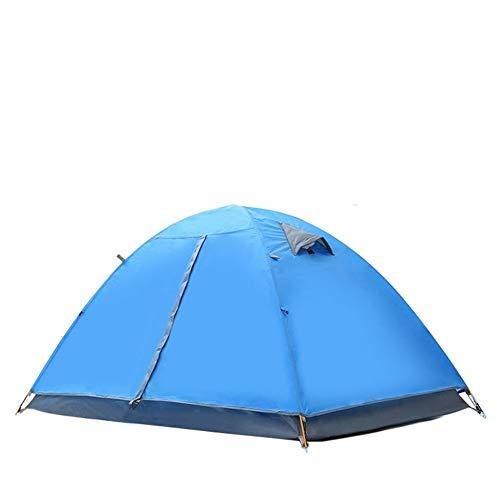 DGZJ Rahmen Zelte Automatische Außen Camping Camping Selbstfahr Zelt-Fischen-Zelt Ideal für Camping Wandern Außen (Color : Blue Aluminum Rod, Size : 1-2 People)