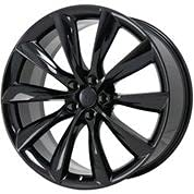 22 Inch x 10 TESLA TURBINE STYLE Staggered Wheels Rims 5 lug Gloss Black compatible with TESLA X MODEL ALL ONE PIECE