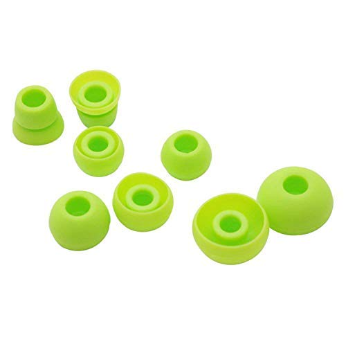 Replacement Silicone Ear Tips Earbuds Buds Set Compatible with for Powerbeats 2 3 Wireless Beats by dre Headphones Earphones, 4 Pairs (Green)