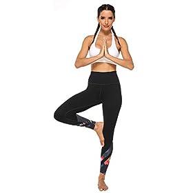 AFITNE Women's High Waist Printed Yoga Pants with Pockets, Tummy Control Non See-Through 4 Way Stretch Athletic Yoga Leggings