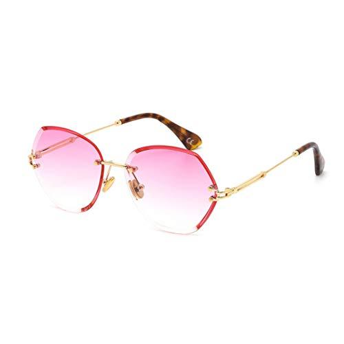 Frameloze trimmen zonnebrillen, dames 2019 nieuwe zonnebril damenmode trend zonnebrillen