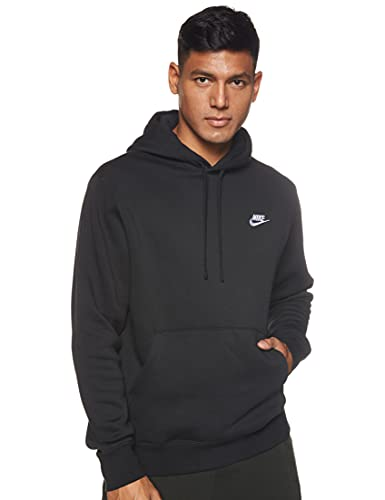 Nike Pull Over Hoodie, Black/Black/White, X-Large