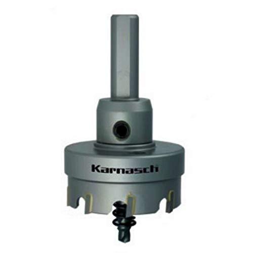 Karnasch Easy-Cut 201020085 Hartmetall-bestückte Lochsäge, Nutzlänge 12mm - komplett mit Schaft, Zentrierbohrer und Auswurffeder