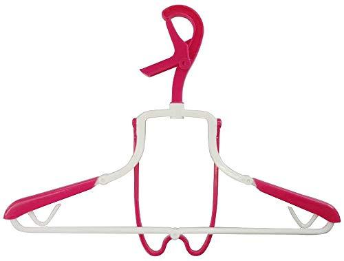 小久保工業所  フード付きパーカーハンガー ピンク Brilliant 折りたたみ式 (生乾き防止/型崩れ防止) KL-063
