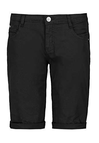 Sublevel Damen Baumwoll Bermuda-Shorts im Chino Stil Black S