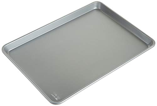 Chicago Metallic Commercial II Traditional Uncoated 16-3/4 by 12-Inch Jelly-Roll Pan, Set of 2 -