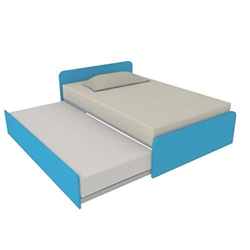 MOBILFINO CAMERETTE 864R Sofa, 120 x 190 cm, mit zweitem Ausziehbett, Kopfteil personalisierbar in Position und Höhe