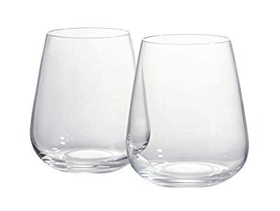 VitaJuwel 6 Piece Drinking Glass Set Blossom-Shaped Glasses Complements Decanter and Vial