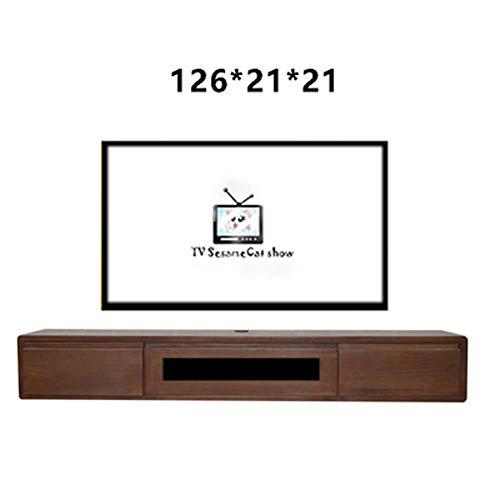 Alle massief hout woonkamer muur hangen, wit eiken hout opknoping kast set-top box TV kabinet 126 * 21 * 21 stijlnaam size 2