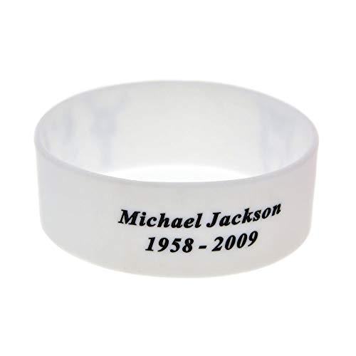 XiXi MJ de Silicona Pulsera de Michael Jackson Michael Jackson la Mano del Anillo Pulsera con la Tendencia (Color : White)