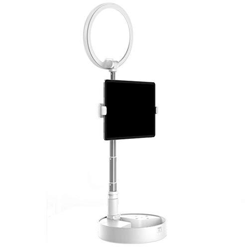 Cuna compatible con la abrazadera de cuello de cisne compatible de cuna Almacenamiento plegable todo en uno, diseño escalable, luz de llenado tridimensional adecuado para teléfono inteligente 6.3-9.5c