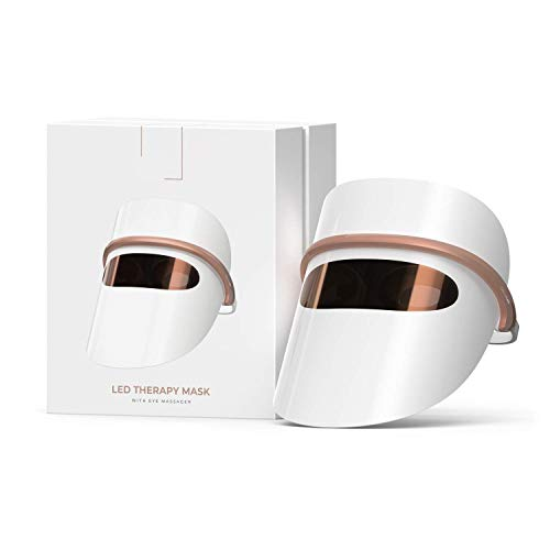 Dermashine Lightweight 7 Color LED Face Mask Light Therapy | Photon Red Light For Healthy Skin Rejuvenation Therapy | Anti Aging Collagen