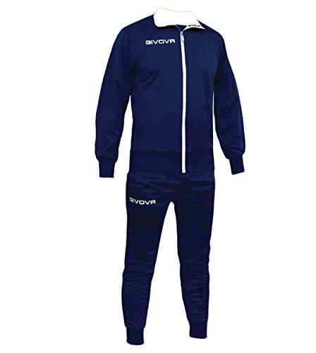 Giosal Completo Tuta Sportiva GIVOVA New Torino Allenamento Uomo Donna Unisex Sport Blu/Bianco-XXL