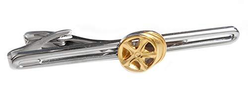 Unbekannt Autofelgen Felge Krawattenhalter Krawattennadel ca. 7 cm Bicolor + Geschenkbox anthrazit schönes Accessoire für den Herren