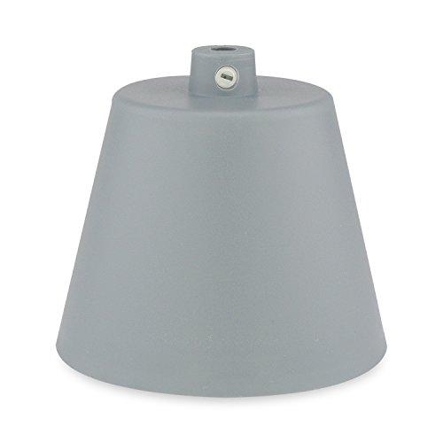 Lampen Baldachin - Deckenbaldachin in Kunststoff grau - Anschlussabdeckung für Hängelampen