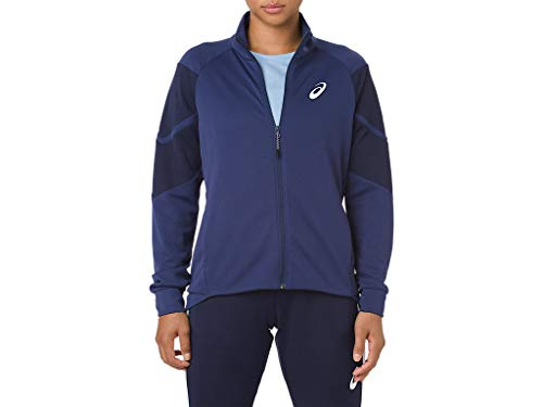 ASICS Women's Entry Track Jacket, Indigo Blue, Small