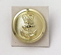 イギリス、ゴールド、ブレザーボタン10個セット(UKBTN-10)階級章ワッペン付