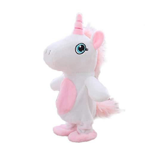 lulongyansf El Movimiento Y Hablar del Unicornio Juguetes Repite Lo Que Usted Dice Interactivo Juguetes De Peluche Lindo del Unicornio Muñecas Juguetes Ruta 1pc del Juego del Juguete