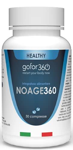 NOAGE360 | Integratore Concentrato di Collagene e Acido Ialuronico Specifico per Pelle e Articolazioni | Gofor360