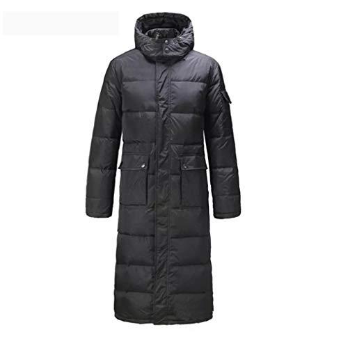 Hyvaluable Herren Jacken Männer Lange Daunenmantel Parkas Outwear Jacke Mantel Kapuze Plus Größe Schwarz Warme Winter Schneller Versand (größe : S)