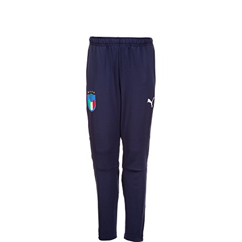 PUMA Herren FIGC Italia Training Pants Zipped Pockets Jr Hose, Peacoat, 152