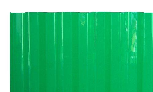 PVC Wellplatten Profilplatten Trapez 70/18 grün transparent ohne Struktur 2000 x 1090 mm