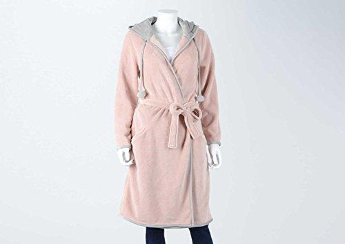 Peignoir à capuche, couleur vieux rose, taille M/L, Amadeus