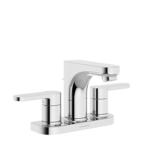 Symmons SLC-6712-1.5 Identity 4 in. Centerset 2-Handle Bathroom Faucet with Drain Assembly in Polished Chrome (1.5 GPM)