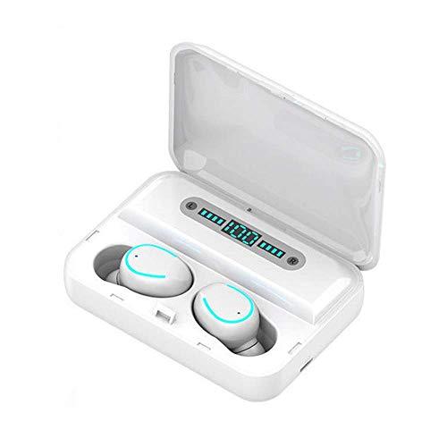 Auriculares inalámbricos, TWS Bluetooth 5.0 Auriculares VERDADEROS VERDADEROS Auriculares inalámbricos auriculares Earbudos, auriculares inalámbricos con caja de carga portátil de cancelación de ruido