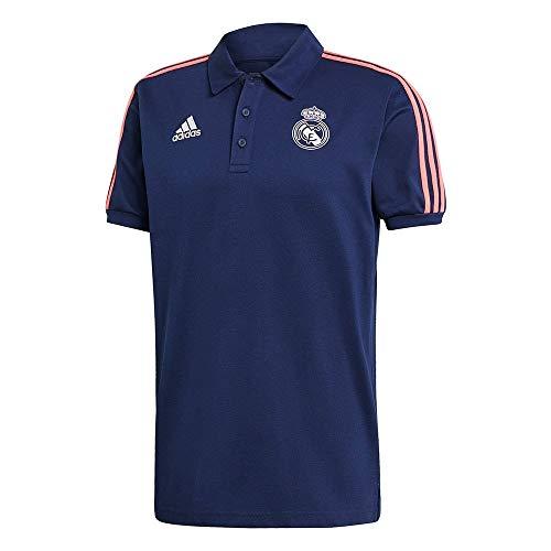 adidas Madrid Temporada 2020/21 Real 3S Polo 3 Bandas, Unisex, Azul/Blanco (Blue/White), 3XL