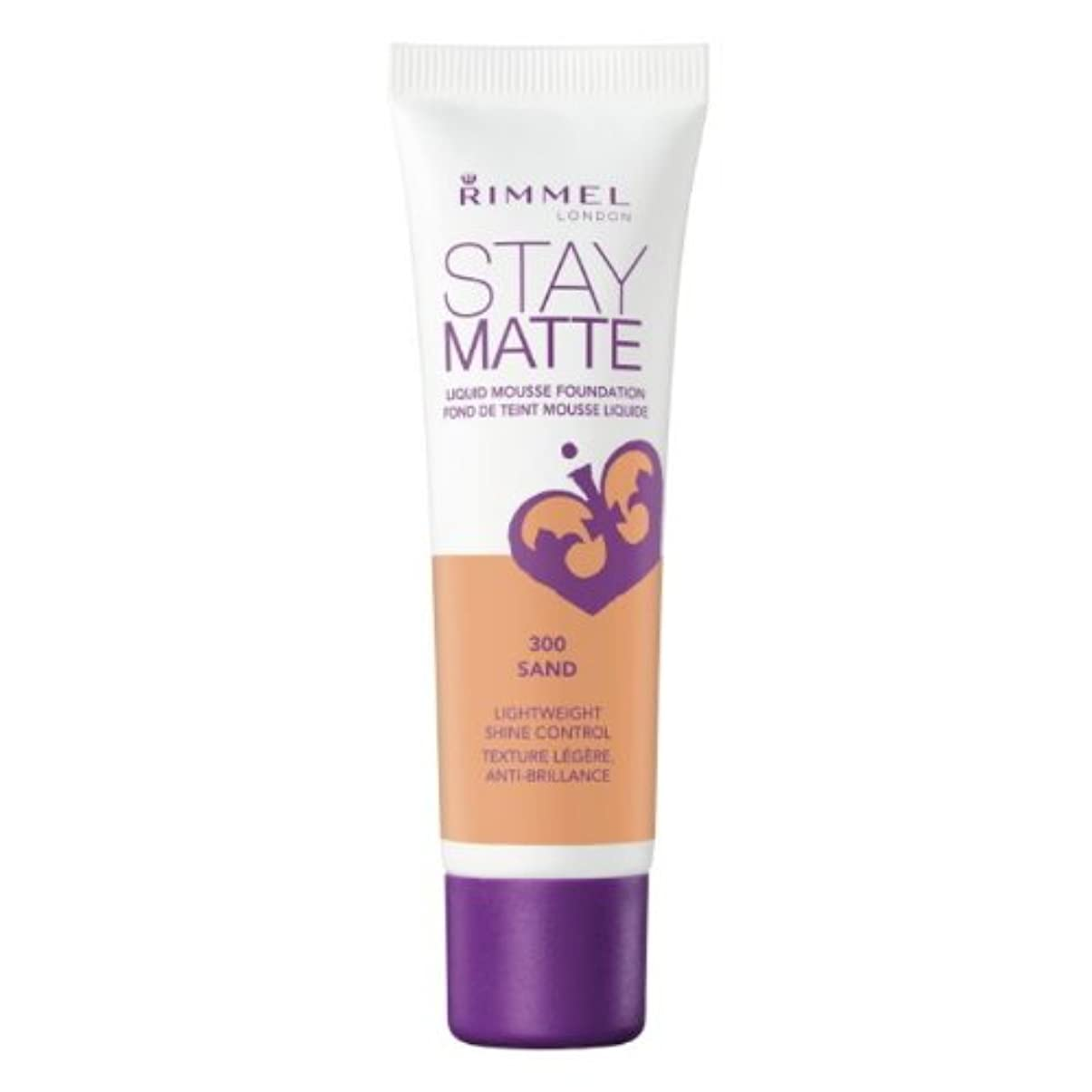敵意指標作り(6 Pack) RIMMEL LONDON Stay Matte Liquid Mousse Foundation - Sand (並行輸入品)