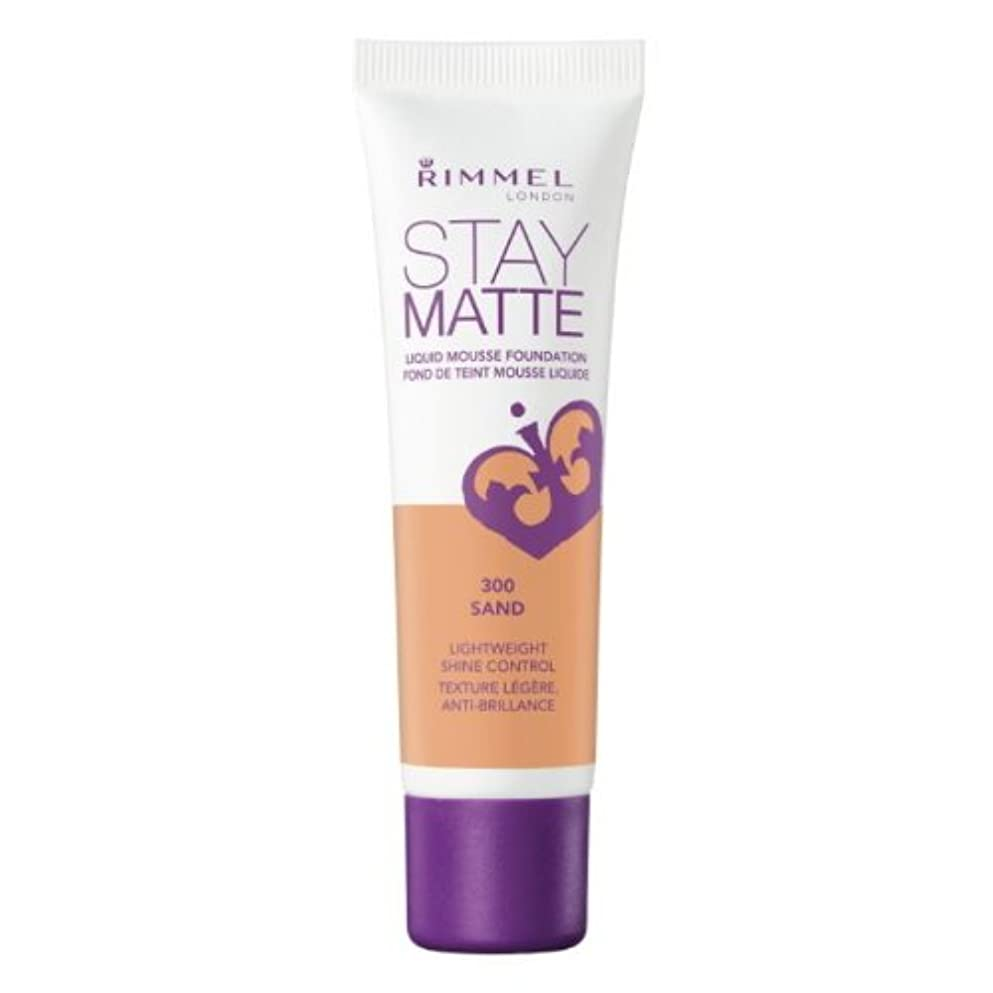 写真問い合わせる有彩色の(6 Pack) RIMMEL LONDON Stay Matte Liquid Mousse Foundation - Sand (並行輸入品)