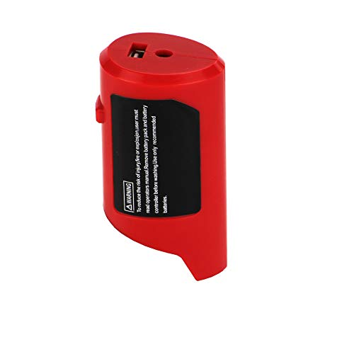 weqcter Fit for M12 Power Source Adapter with DC 12V Outlet Charge for Milwaukee Heated Jacket 49-24-2310 48-59-1201 Compatible with M12 Battery 48-11-2420 48-11-2411 48-11-2401 48-11-2402